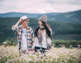 """Ảnh cưới ngập sắc hoa của cặp đôi """"yêu không cần ngỏ lời"""""""