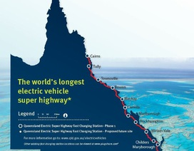 Australia làm đường cao tốc dài nhất thế giới cho xe chạy điện