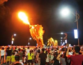 Cầu Rồng không phun lửa trong đêm lễ hội pháo hoa