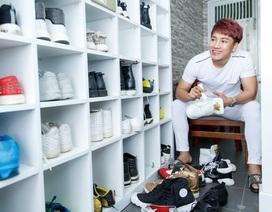 Khám phá căn hộ với tủ giày hàng trăm đôi của nam ca sĩ Sao Mai