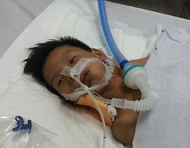 Bị ngã từ xe múc xuống đất, bé trai 7 tuổi nguy kịch