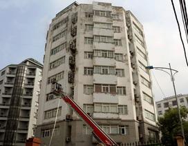 Điều xe thang chữa cháy tòa nhà 10 tầng của Bộ Nông nghiệp