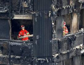 Những căn hộ cháy đen kịt bên trong chung cư 24 tầng ở London