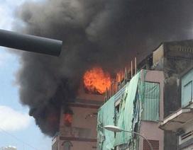 150 cảnh sát khống chế vụ cháy sát chợ Kim Biên