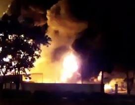 Cháy lớn ở Khu công nghiệp Nội Bài, thiệt hại hàng trăm triệu đồng