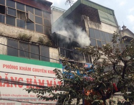 Hà Nội: Cháy cửa hàng văn phòng phẩm trên đường Giải Phóng