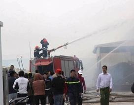 Cháy lớn tại Công ty Bông Thái Bình