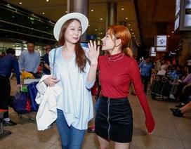 Chi Pu đón Á hậu Hàn Quốc lúc nửa đêm tại sân bay