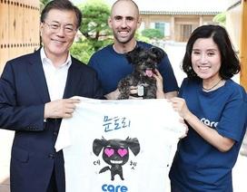 Tổng thống Hàn Quốc nhận nuôi chó từng bị bạo hành