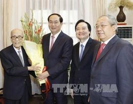 Chủ tịch nước thăm, chúc Tết các trí thức tiêu biểu của Thủ đô Hà Nội