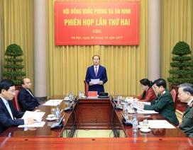 Chủ tịch nước chủ trì phiên họp thứ hai Hội đồng Quốc phòng và An ninh