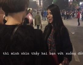 Nữ blogger xinh đẹp làm clip truyền thông điệp không xả rác bừa bãi