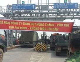 """Sau """"đối thoại"""" của Giám đốc Công an tỉnh Phú Thọ, tạm dừng thu phí ở Trạm BOT Tam Nông"""