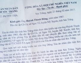 Án tuyên 7 năm chưa được thi hành: Dân không đồng tình trả lời khiếu nại của TAND tỉnh Sóc Trăng!