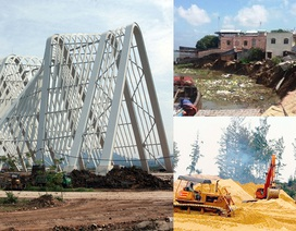 14 căn nhà trôi tuột xuống sông và cổng tỉnh 200 tỷ đồng