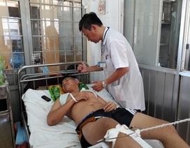 Một chiến sĩ công an bị tông chấn thương sọ não, gãy chân