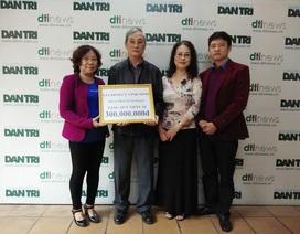 Gia đình cụ Phạm Thị Ninh trích tiền phúng viếng 300 triệu đồng ủng hộ Quỹ Nhân ái báo Dân trí