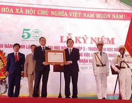 Đại học Nông lâm Huế nhận Huân chương Độc lập hạng Nhất lần 2