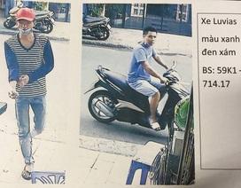 Cảnh sát truy tìm 2 nghi can dàn cảnh trộm thẻ cào trị giá 100 triệu đồng
