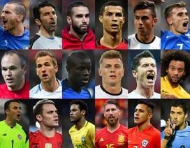 Công bố đề cử giải Cầu thủ xuất sắc nhất FIFA 2017