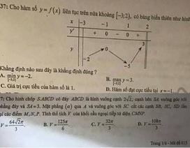 Hà Nội: Đề khảo sát lớp 12 môn Toán, Hóa có sai sót