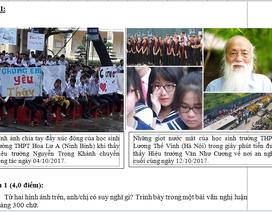 Hình ảnh về thầy Văn Như Cương và bác sĩ Nguyễn Anh Trí vào đề Văn