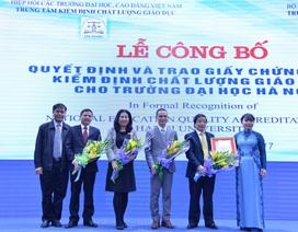 Trường ĐH Hà Nội nhận Giấy chứng nhận kiểm định chất lượng giáo dục