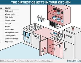 Xếp hạng những thứ đồ bẩn nhất trong căn bếp của bạn