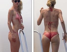 Siêu mẫu áo tắm khoe dáng thon với bikini