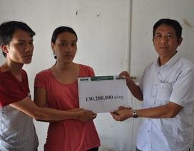 Hơn 130 triệu đồng đến với gia đình anh Bùi Ngọc Thực