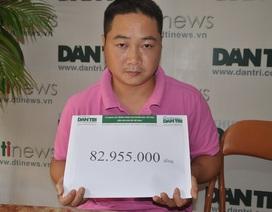Gần 83 triệu đồng đến với gia đình chị Giáp Thị Nguyệt
