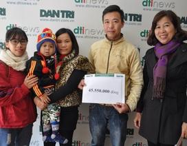Hơn 45 triệu đồng đến với em bé Lanh bị ung thư mắt có bố chết, mẹ tâm thần