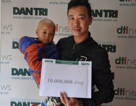 Trao tiếp 10 triệu đồng đến bé Lanh bị ung thư võng mạc