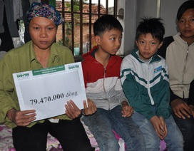 Gần 80 triệu đồng đến với gia đình có 3 con thơ nghẹn đắng nhìn bố chết dần