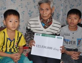 Hơn 123 triệu đồng đến với hai đứa trẻ bị bố mẹ bỏ, bà nội sắp chết