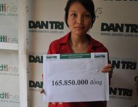 Hơn 165 triệu đồng đến với bé Lý Triệu Hồng Sơn