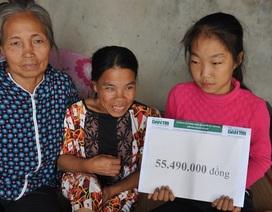 Hơn 55 triệu đồng đến với cô bé lớp 7 không có bố, chăm mẹ tâm thần