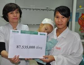 Gần 88 triệu đến với bé gái 2 tuổi bị chó cắn rách toàn bộ đầu
