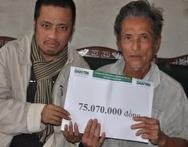 Hơn 75 triệu đồng đến với bác Ngô Huy Tăng