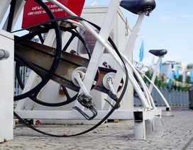 """Dàn xe đạp lọc nước kênh Nhiêu Lộc... """"đình công"""""""