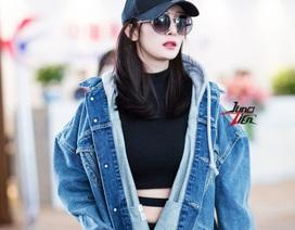 Dương Mịch trình diễn thời trang tại sân bay