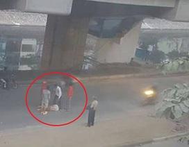 Công nhân đường sắt Cát Linh - Hà Đông ngã do tai nạn giao thông