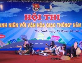 """Sôi động Hội thi """"Thanh niên Bắc Ninh với văn hóa giao thông"""" năm 2017"""