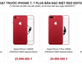 iPhone 7 màu đỏ sẽ về Việt Nam từ ngày mai, giá không đội lên quá cao