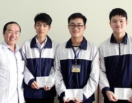 Hà Tĩnh: 3 học sinh xuất sắc được chọn đi thi Olympic Toán Quốc tế, Tin học châu Á