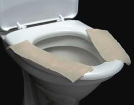 Có nên đặt giấy lót lên xí bệt?