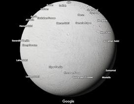 Khám phá Hệ Mặt Trời bằng Google Map