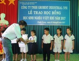 62 suất học bổng của Grobest Việt Nam tiếp tục đến với học sinh nghèo hiếu học tỉnh Bà Rịa - Vũng Tàu