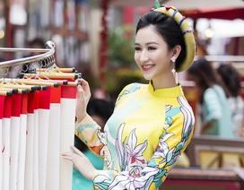 Á hậu Hà Thu lên tiếng về áo dài cách tân