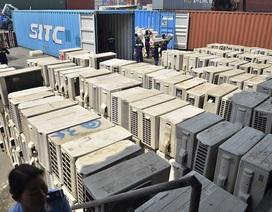 600 trăm bộ máy lạnh cũ xếp kín 3 container nhập lậu về Việt Nam